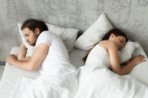 a comforter for couples sleeping together