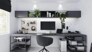 turning a studio apartment into a home office