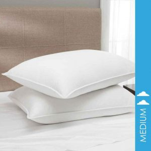White duck down pillow from Downlite