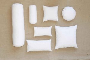 Insert pillows from Downlite of various shapes and sizes