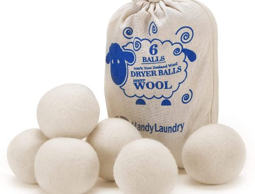 wool dryer balls which are thrown in the drying machine instead of using a dryer sheet