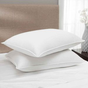 hotel pillows featuring 25/75 down and feather blend