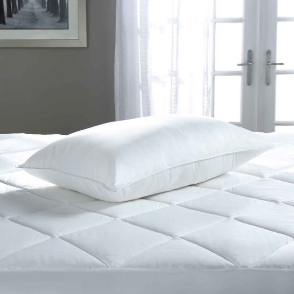 A pillow filled with primaloft fill.